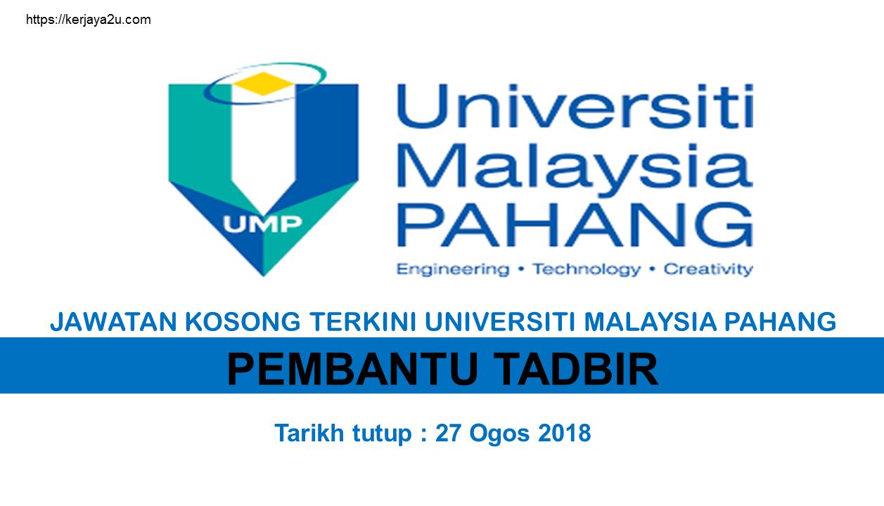 kerja kosong terkini universiti malaysia pahang