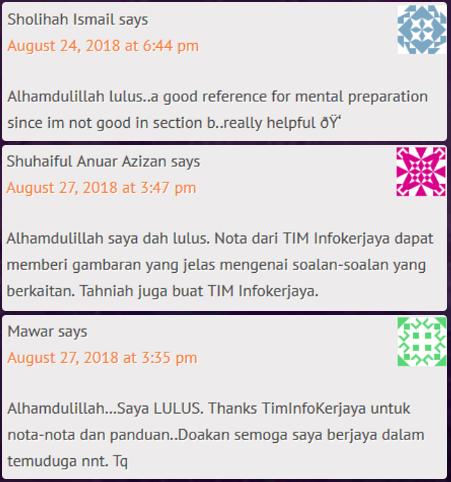 Contoh Soalan peperiksaan SPA Pendaftaran KP19