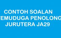 CONTOH SOALAN TEMUDUGA PENOLONG JURUTERA JA29