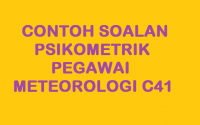 CONTOH SOALAN PSIKOMETRIK PEGAWAI METEOROLOGI C41